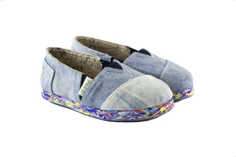 MINI PAEZ MULTICOLOR WASHED DENIM