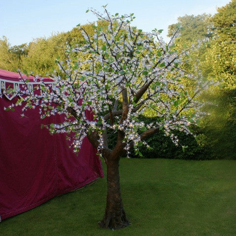 Enchanted Tree - 3 metre LED White Blossom With Leaves