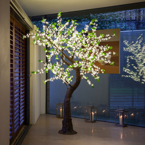 Enchanted Tree - 2 metre LED White Blossom With Leaves
