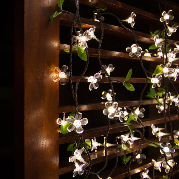 White LED Cherry Blossom Garland