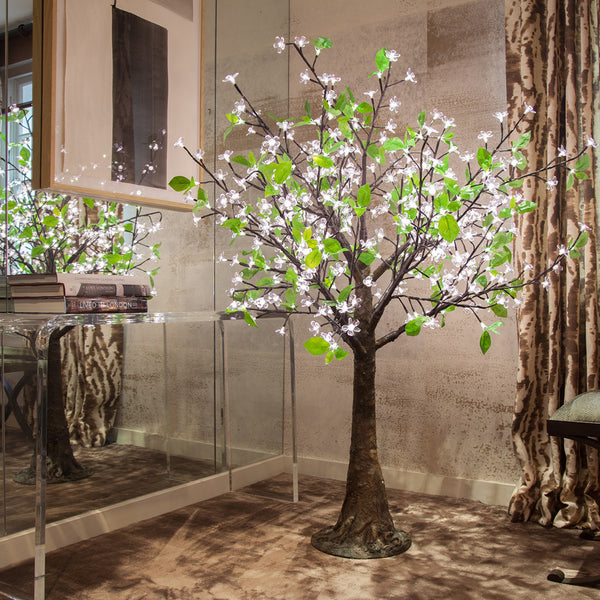 Enchanted Tree - 1.5 metre LED White Blossom With Leaves