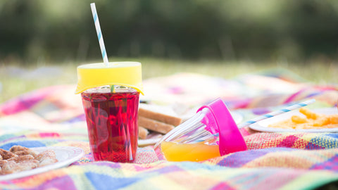SafeSips being used on a picnic