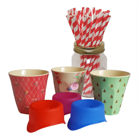 Christmas Gift Set - Christmas Rice cups and Accessories