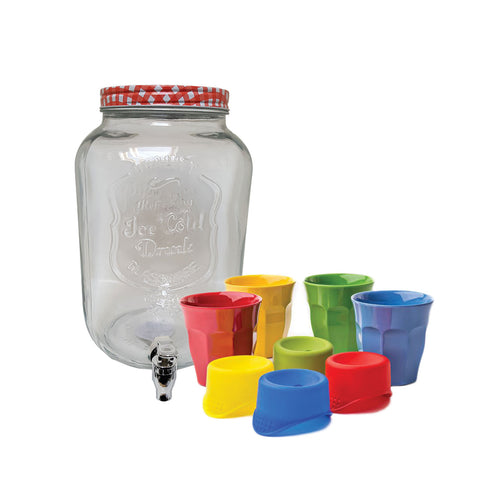 Drink Dispenser & Rice Cup Set