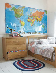 custom framing nyc - world map frames