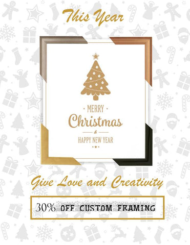 Christmas Custom Framing Newsletter 30% OFF