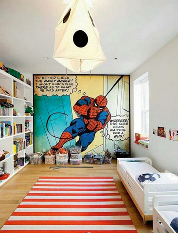 Spider Man Comic Wall - custom framing nyc