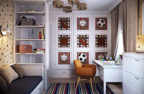 Traditional Boy's Room - custom framing nyc