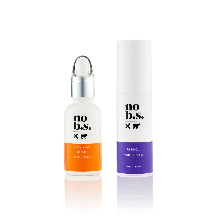 Vitamin C+E Serum & Retinol Night Cream Duo