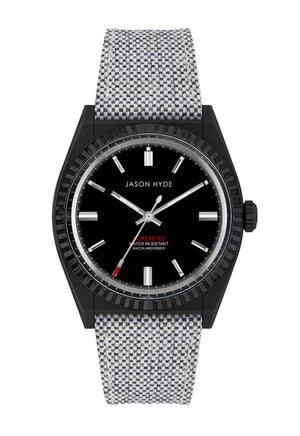 JH10008 #UNO Vegan, Black dial , Black IP case