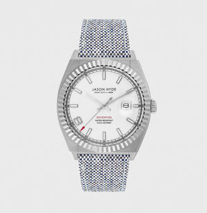 JH30000 I HAVE A DATE , Stainless steel body, white dial, grey organic strap 40 MM