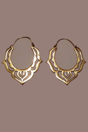 Sacred Yoni Earrings Brass