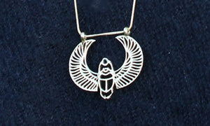 Egyptian Heart Scarab Necklace
