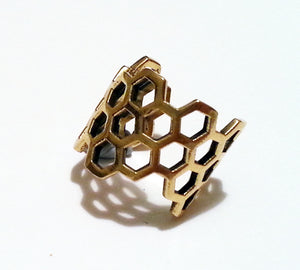 Honey Comb Ring (Semi Adjustable)