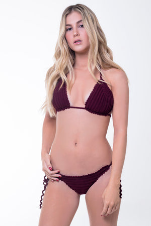 Red Wine Gaia - Crochet Bikini Set