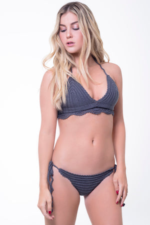 Dark Grey Nala - Crochet Bikini Set