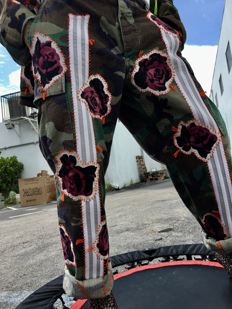 Bunch of Roses Camo Pants