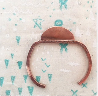 Copper sunrise cuff