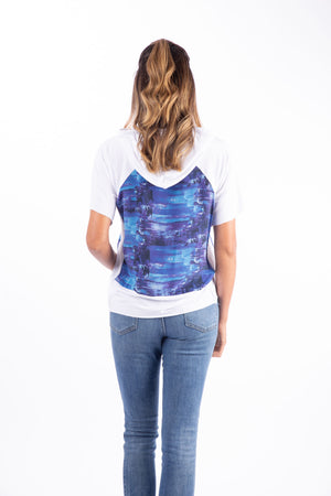 Axis Hoodie Top - Blue Lake Print