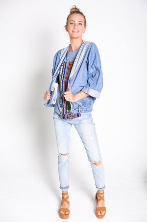 The Chevron Denim Jacket
