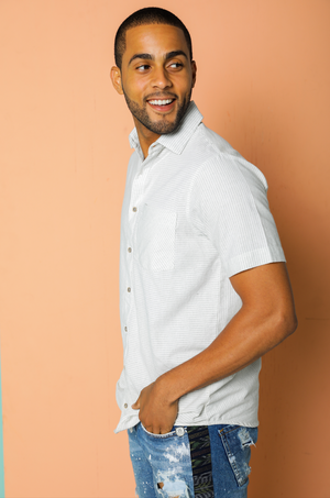 Recycled Mutuba Stripe Button-Down Shirt