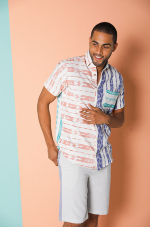 Mutuba Jaspe Stripe Button-Down Shirt