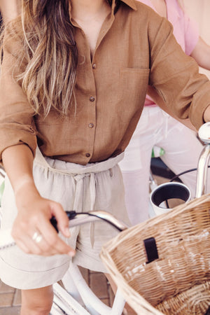 Lola Linen Button Down Shirt