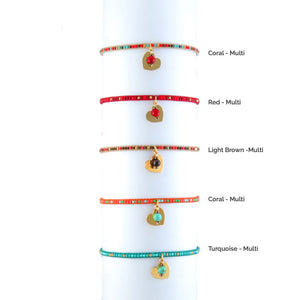 HM Heart Beaded Bracelet