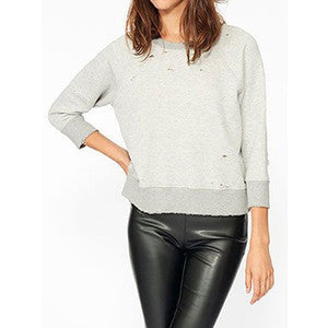 Gayla Shrunken Sweatshirt Reverse Cream