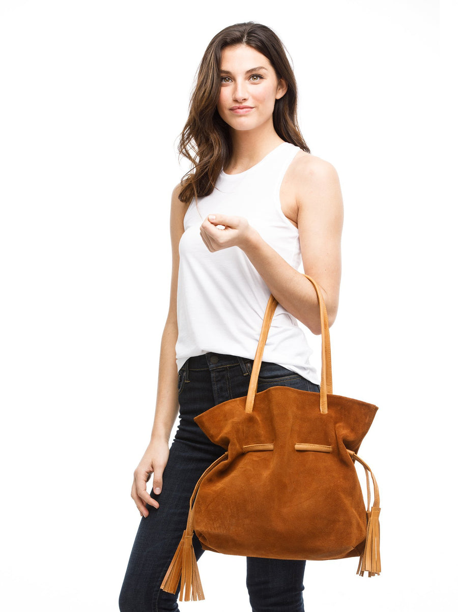 Meti Suede Shoulder Bag