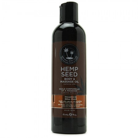 Hemp Seed Massage & Body Oil 8oz/236ml in Dreamsicle