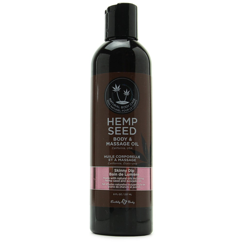 Hemp Seed Massage Oil- Skinny Dip 8 oz
