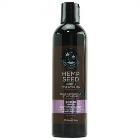 Hemp Seed Massage & Body Oil 8oz/236ml in Lavender