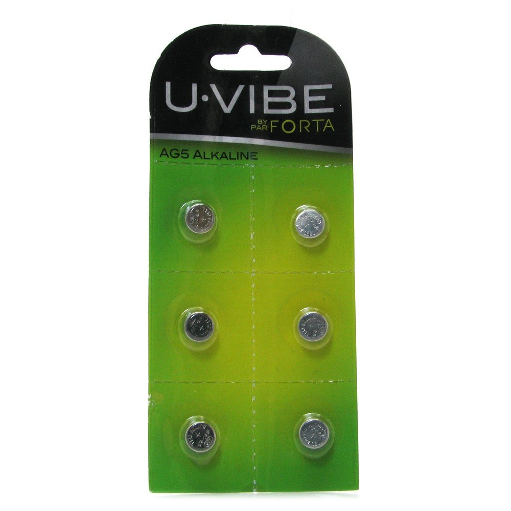 U.Vibe 6 Pack AG5 Alkaline Batteries