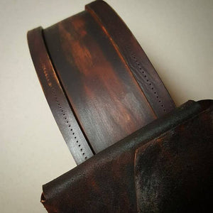 Belt with Holster and Two Pouches