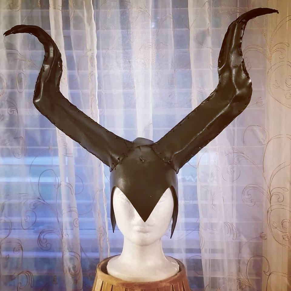 Leather Horns in the style of Maleficent