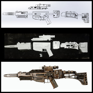 EL-16HFE Blaster Rifle - Kit or Finished Version