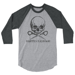 Darth Cleavage 3/4 Sleeve Unisex Raglan Tee