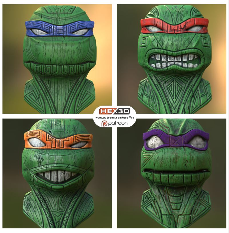 Teenage Turtle Tikis