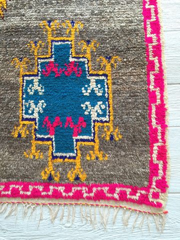 Moroccan Rug - Blue Medallion