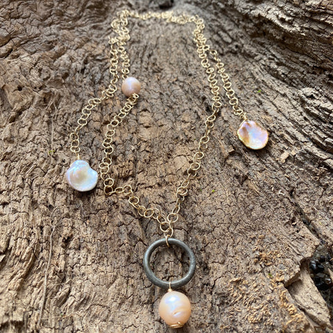 Porto Money and Multi Pearl Versatile Necklace