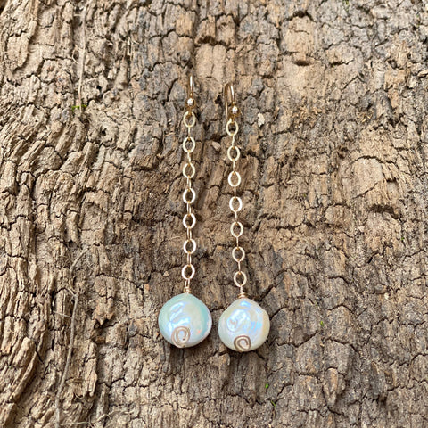 The Coin Pearl Drop Earrings