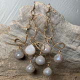 14K GF Australian Moonstone Chandelier Earrings