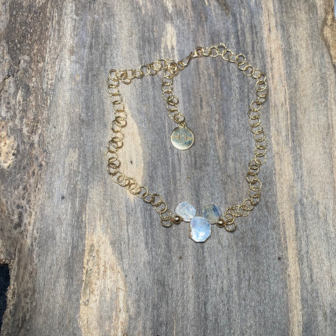 14K GF Blue Kyanite Slice Necklace