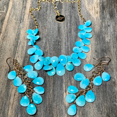 14K GF Sleeping Beauty Turquoise Necklace