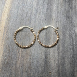 14K GF Beaded Hoop Earrings