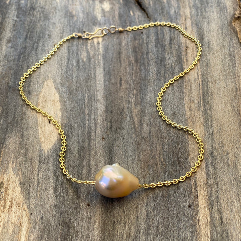 14K GF Saltwater Pearl Necklace