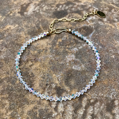 Swarovski Chrystal Adjustable Boot Bangle and Anklet