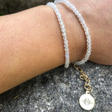 14K GF Rainbow Moonstone Choker or Double Wrap Bracelet