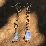 Hand Carved Opal Earrings